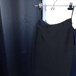 BCBG bandage bodycon skirt Black