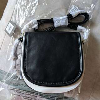 NWT Fossil Leather Black Rumi Crossbody