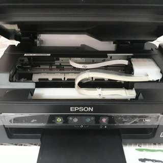 Epson all in one printer L360 no dents no scratch manual and cords and box complete with ink black ink half original price 9000