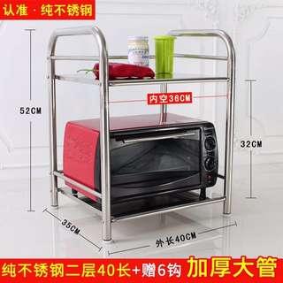 [代購 / Purchase Service] 廚房 置物架 微波爐架子 雙層不鏽鋼 烤箱架 2層收納架 調料架 廚房用品