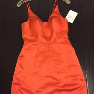 Selena Gomez Red (blood orange) Dress