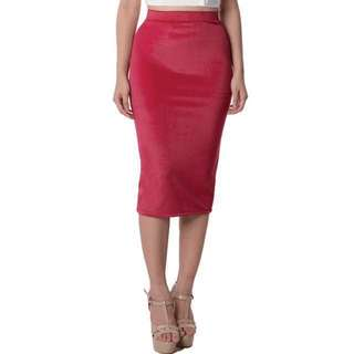 Velvet Pencil Skirt by Poise24 authentic 100%