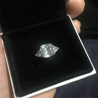 925 Sterling Silver Ring cz