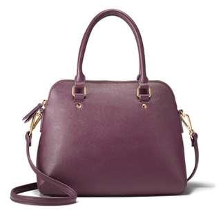 Leather Saffiano Dome Bag