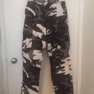 Black and Grey Camo Pants