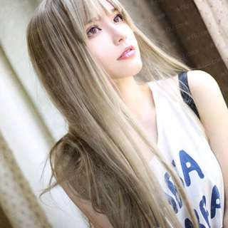 悶青色假髮 cos