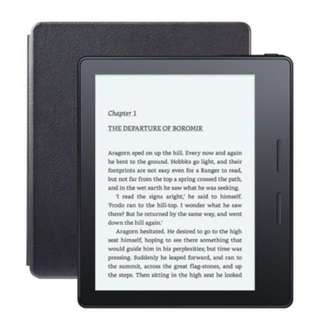 """3G+Wifi, Kindle Oasis E-reader with Leather Charging Cover - Black, 6"""" High-Resolution Display (300 ppi)"""