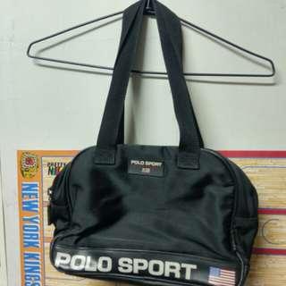 Vintage Polo sport 小保齡球包 肩背包