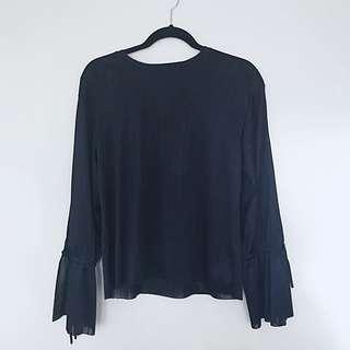 Zara Tie Sleeve Blouse