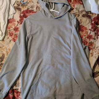 Topman elongated hoodie