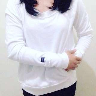 Jansport White Cotton Sweatshirt