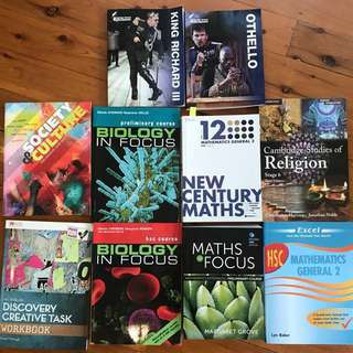 Year 12 and 11 Textbooks