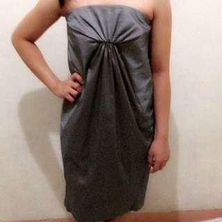 Calvin Klein Gray Tube Dress. Size 4 on tag
