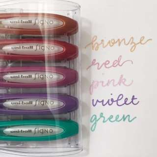 Uni-Ball Metallic Gel Pens