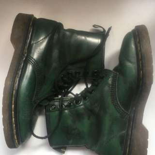 Authentic Dark green Doc Martin boots