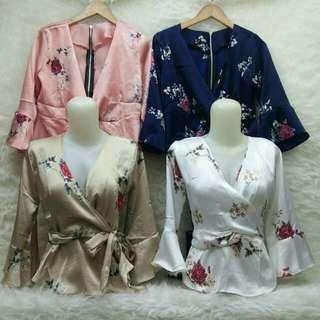 blouse flow saten