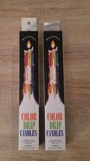 Colour Drip Candles