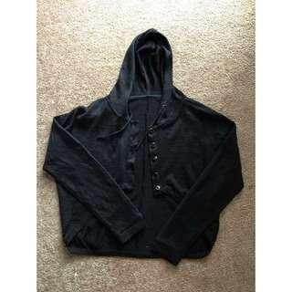 Black Cardigan w/ hood