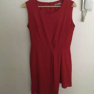 'Love' red mini dress size M