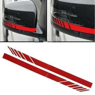 1 pair Car Side Mirror Stripe Sticker Edition 1 For AMG
