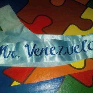 Mr. Venezuela  (Sash)