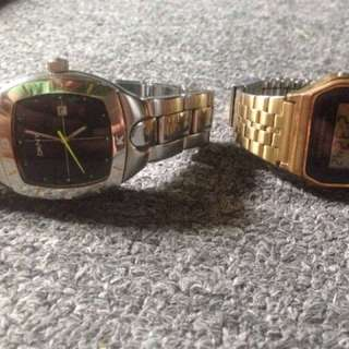DKNY stainless steel ORIGINAL watch(medium size)+Casio gold vintage ORIGiNAl buy 1 take 1 for only