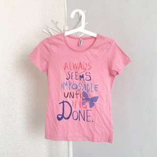 Kaos warna Peach - Colormix - Original AIIZ