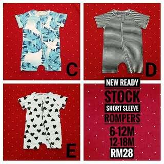 READY STOCK BABY ROMPERS