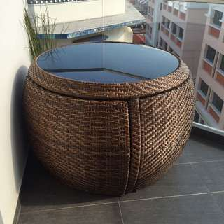 Balcony Table And 4 Chairs