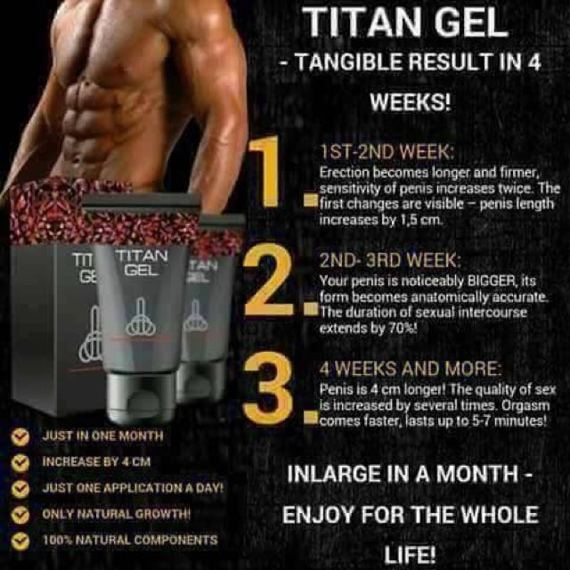 100 original titan gel for men available here health beauty