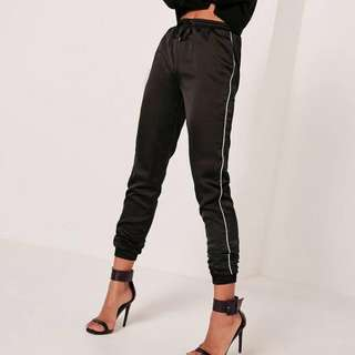 misguided silk joggers