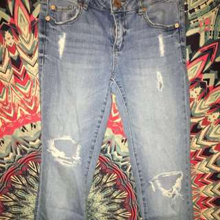 (REDUCED PRICING) Washed out Garage jeans