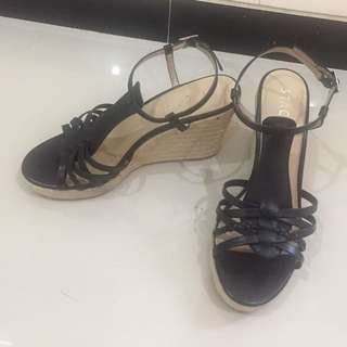 Staccato wedges black size 39