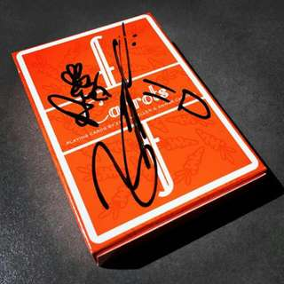 Signed Fontaine Carrot Playing Cards