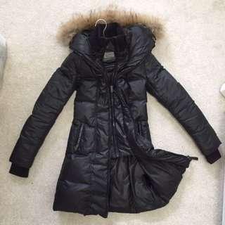 Xxs long down mackage coat