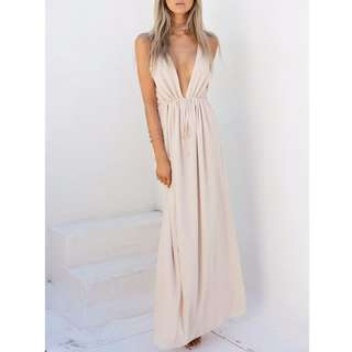 *REDUCED* BNWOT Sabo Skirt Athena Maxi Dress Nude size 8