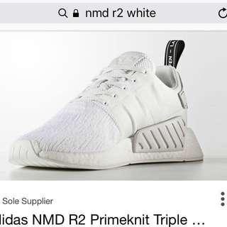 adidas NMD R2 Triple Crystal White