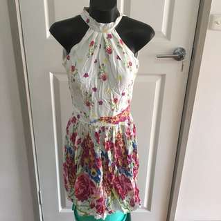 Floral Halter Dress Size 6