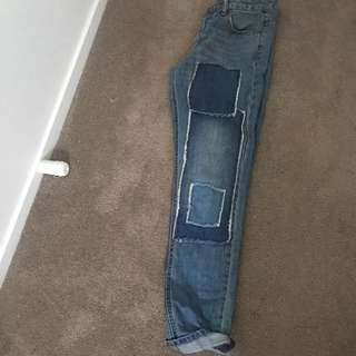 Glassons patchwork jeans