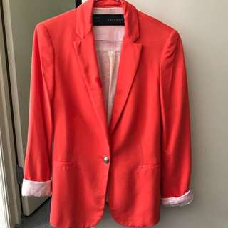 Zara xs women's blazer red/ orange