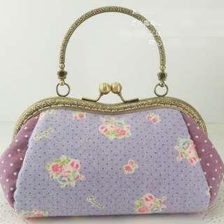 Kisslock Bag DIY Kit Countrystyle Lilac