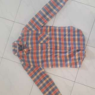 pull and bear kemeja flanel