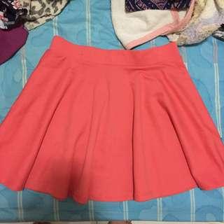 f21 pink skirt