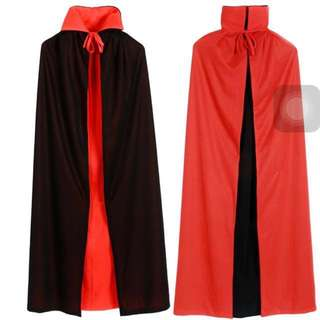 *IN STOCK* Dracula Cape Halloween Cape Kids Halloween Costume Red And Black Reversible Double Sided Cape Vampire Costume Dracula Costume Kids adult Dracula Cloak Halloween Cloak
