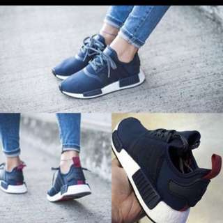 [Uk4] BN Authentic adidas NMD R1 collegiate Blue Navy/ Navy Pink