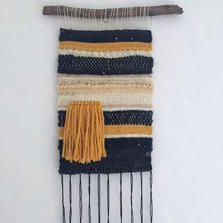 Mustard - Woven wall Hanging Weave Tapestry
