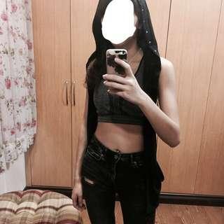 Black Riderback Outerwear/ Vest