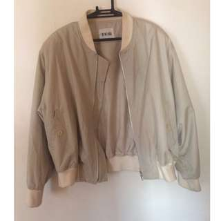 Tan Colored Bomber Jacket
