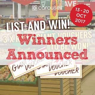 List & Win RM50 GIANT vouchers