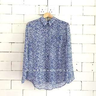 PRINTED SHIRT B192 - BLUE